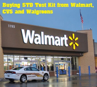 buying std test kit from walgreens, cvs and walmart